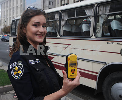Girl with a dosimeter