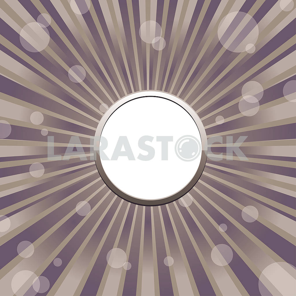 Circle frame template with sun baubles and blank place for text — Image 80398