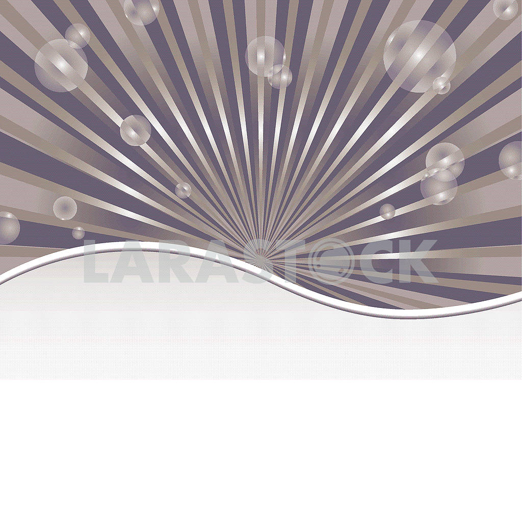 Abstract background template with sun baubles and strip — Image 80400