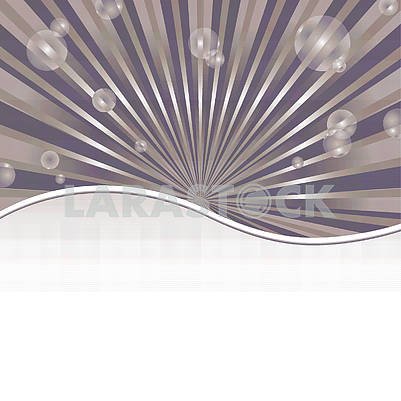 Abstract background template with sun baubles and strip