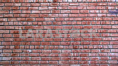 Old wall with red bricks