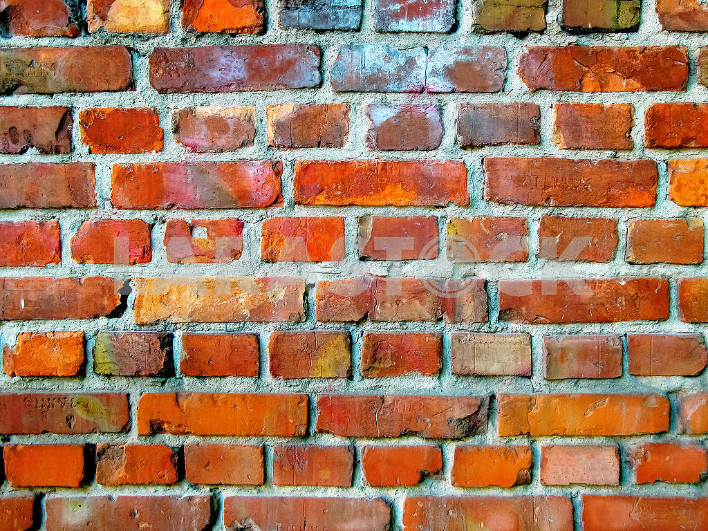 Old wall with red bricks — Image 81915