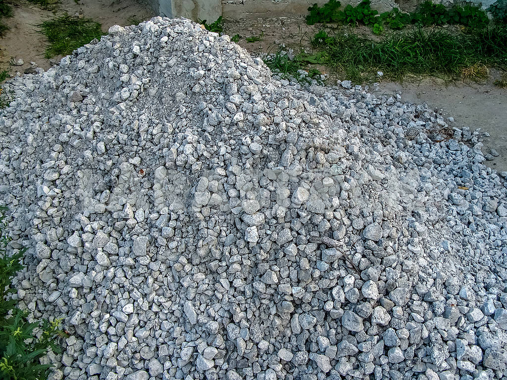 A pile of waste slag lies near the yard — Image 82302