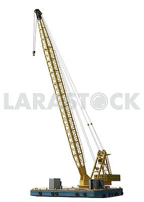 industrial water crane isolated on white background