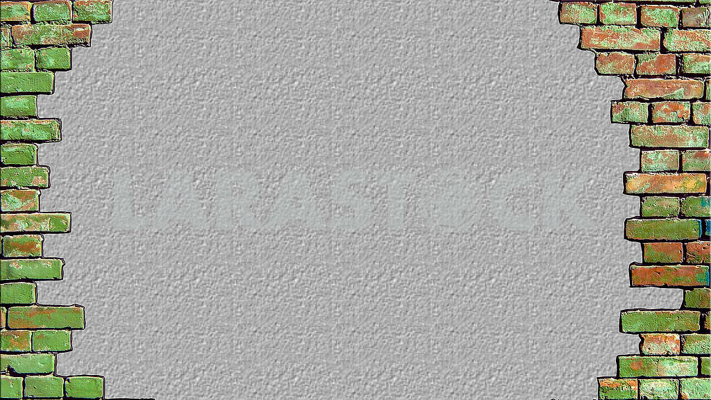 Background old brick wall there is a place for your text. — Image 82959