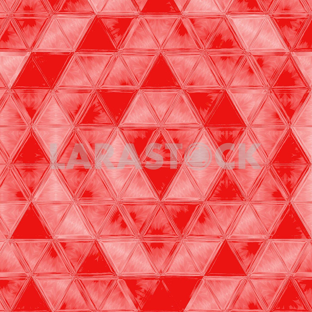 Bold plaid pattern with thin diagonal brushstrokes, thin stripes and triangles in bright coral color — Image 83042