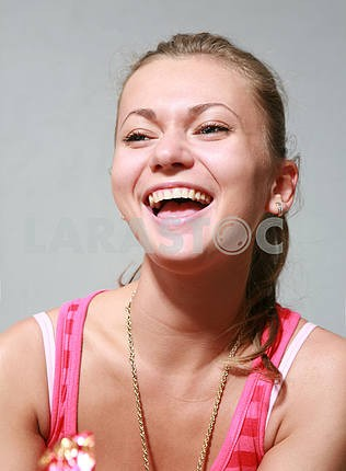 Portrait smiling girl