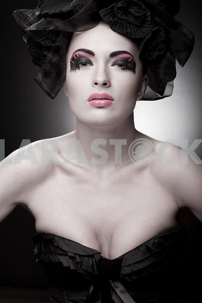 Крупным планом портрет красивой молодой женщины. Мода Арт-фото — Изображение 9757