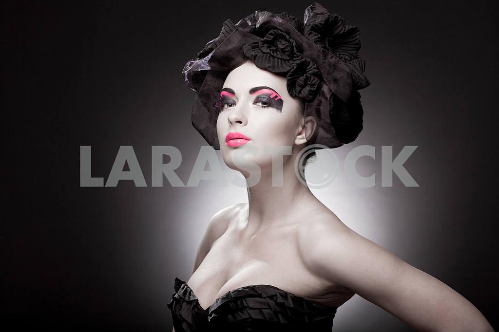 Крупным планом портрет красивой молодой женщины. Мода Арт-фото — Изображение 9759