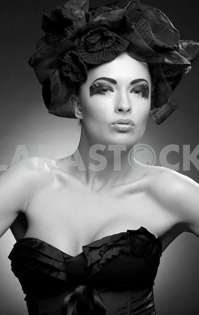 Крупным планом портрет красивой молодой женщины. Мода Арт-фото — Изображение 9760