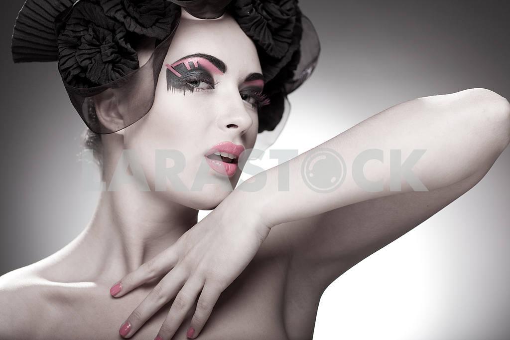 Крупным планом портрет красивой молодой женщины. Мода Арт-фото — Изображение 9842